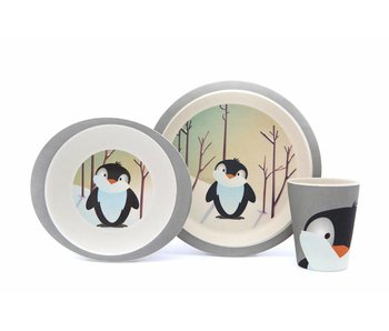 Pure Kids Kinderservies Bamboe Pinguin