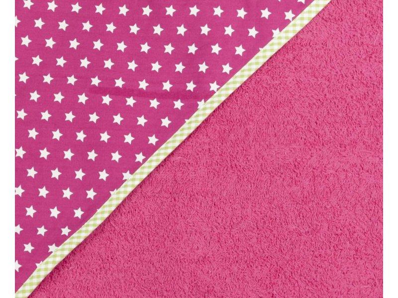 izzybizzybee® Kapuzenbadetuch Stars Pink BABY