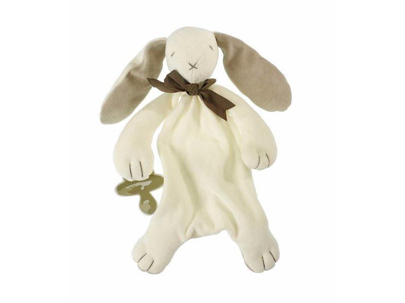Maud N Lil Kuscheltuch Hase (grau) in Geschenkkarton