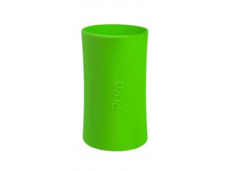 Pura Babyflasche Edelstahl 325 ml - Grüne Hülle