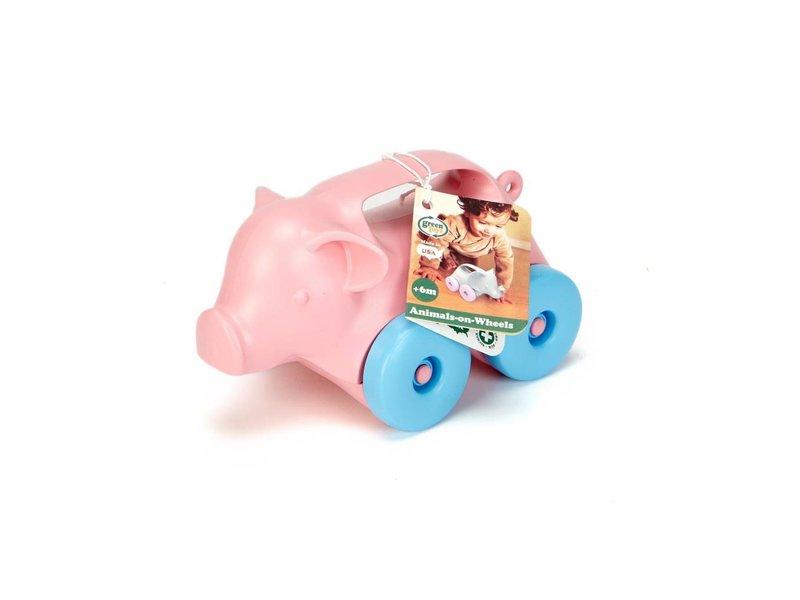 GreenToys Animals On Wheels Schiebespielzeug
