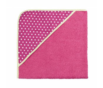 izzybizzybee® Badcape Stars Pink MAXI