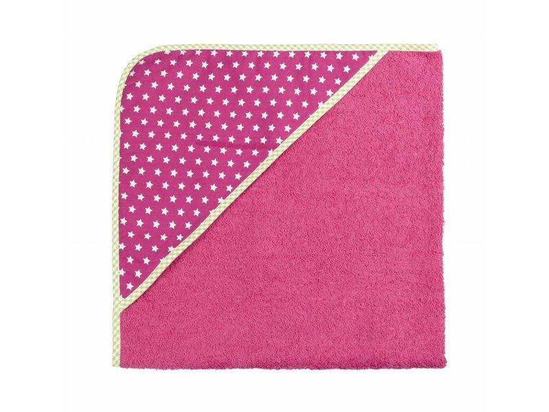 izzybizzybee® Kapuzenbadetuch Stars Pink MAXI