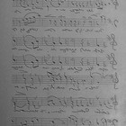 "Reliefplaat ""Sheet music"" - 5x10cm"