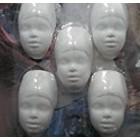 Powertex African lady - 5 halve hoofdjes