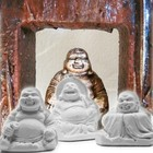 Powertex Buddha trio