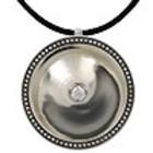 One Jewels Hanger kogeltjes met stoffen collier