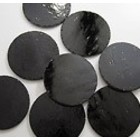 Cirkel - zwart opaque - 3,5 cm - COE 90