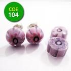 Clear/roze bloempje/roze punt 8-10mm