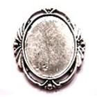 Antiek ovalen lijstje - camee 22x30mm - oud zilver