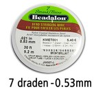 Beadalon 7 draden - Clear - 0.53mm - 9.2m
