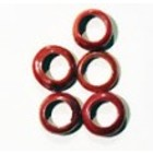 Ring - Rood glans - Divers - 14mm