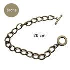 Armband + slot - Bronskleur - 20cm - 11mm