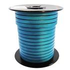 Plat lederen band - Turquoise - Leder - 6x2mm