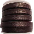 Slangen leder - Donker choco bruin - Leder - 10mm