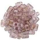 Bricks - 3/6mm - Luster - Transparent Topaz/Pink