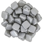 Tiles - 6mm - Pearl Coat - Silver