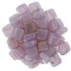 Tiles - 6mm - Pink/Topaz Luster - Milky Alexandrite