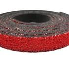 Plat leder caviaar - 6x2mm - Rood
