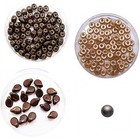 Halsketting PIP beads - Bruin/brons