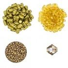 Halsketting Palaso met Bricks - Goud/beige