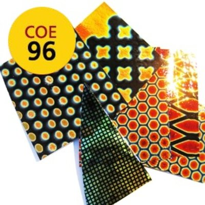 Thin patterned premium dichroic scrap black - COE 96