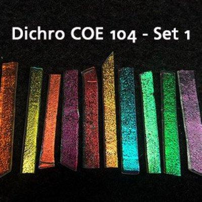 Effetre Dichroic On Clear - Sampler Set 1