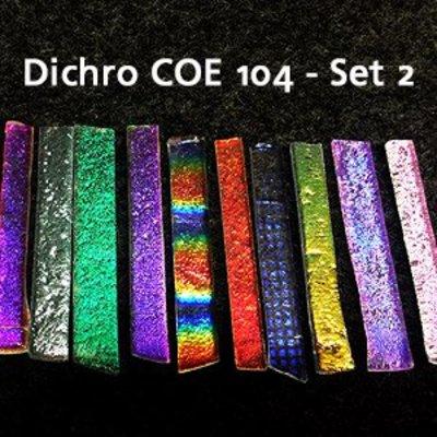 Effetre Dichroic On Clear - Sampler Set 2