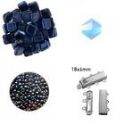 Quadrado armband - Mirror Denim Blauw/Turquoise