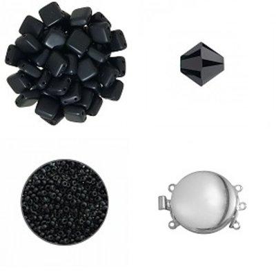 Quadrado armband - Zwart