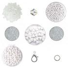 Cascada halsketting - Crystal/Snowwhite