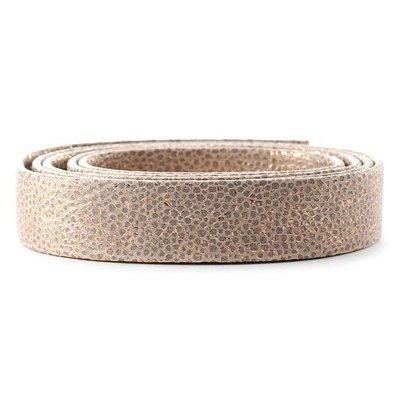 Leder Primula/metaal - 20x2mm - Rosé Wit