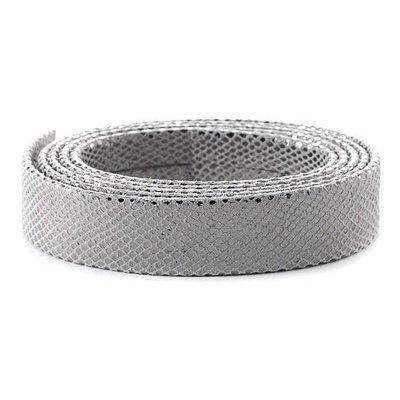 Leder Slang/metaal - 20x2mm - Zilver