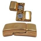 Magneetslot rechthoekig - Goudkleur -17x8.5x4mm - voor 6x2mm