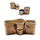 Magneetslot scharnier bronskleur -36x12mm/voor 10mm