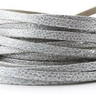 Leder Primula/metaal - 5x2mm - Zilverwit