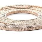 Leder Slang/metaal - 5x2mm - Rose Goud