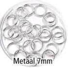 Dubbel oog - Zilver - Metaal - 7mm