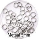Dubbel oog - Zilver - Metaal - 5mm