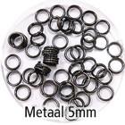 Dubbel oog - Zwart - Metaal - 5mm