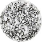Facetkraal - Zilver metal - Glas e354 - 3mm