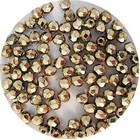 Facetkraal - Verguld metal - Glas g35 - 3mm
