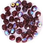 Facetkraal - Red garnet AB - Glas - 5mm