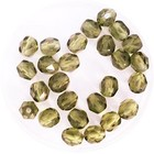 Facetkraal - Olivine - Glas - 5mm