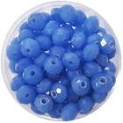 Facetkraal - 3x4mm - Glas - Kobalt blauw