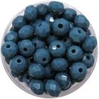 Facetkraal - 3x4mm - Glas - Pacific blue