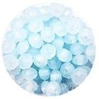 Facetkraal - 3x4mm - Glas - Pastel blauw