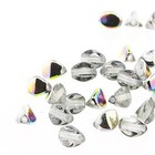 Pinch Beads - 7mm - Crystal Vitrail