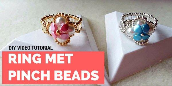 DIY video: ring met Pinch beads
