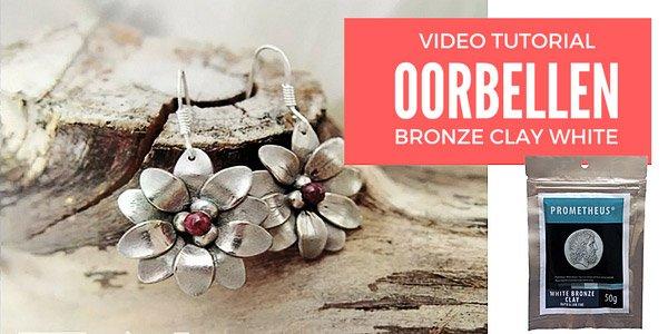 DIY Video: Oorbellen in Bronzclay White